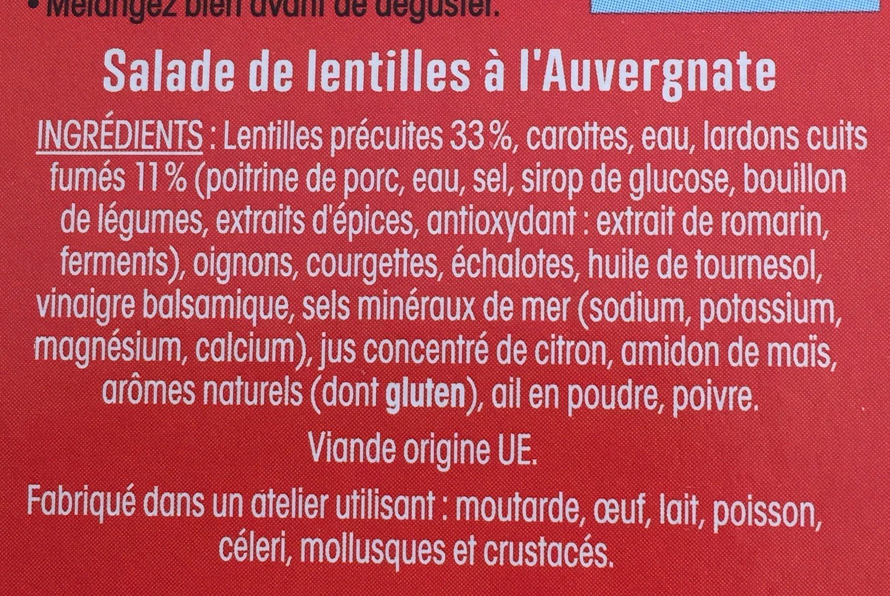 Ma Salade Repas AUVERGNATE - Ingredients - fr