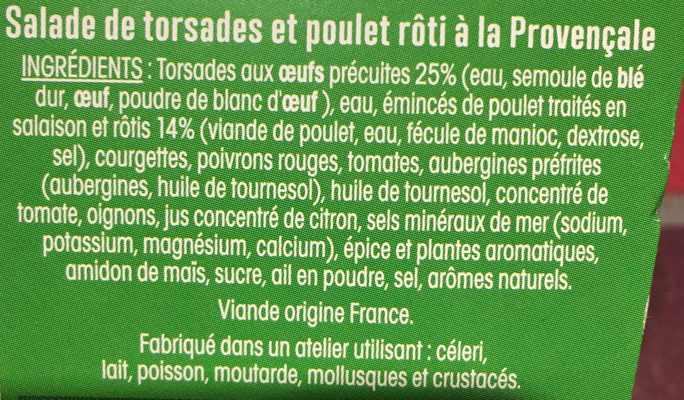 Ma salade repas Provençale - Ingredients - fr