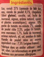 Ravioli Poulet Rôti - Ingrediënten - fr