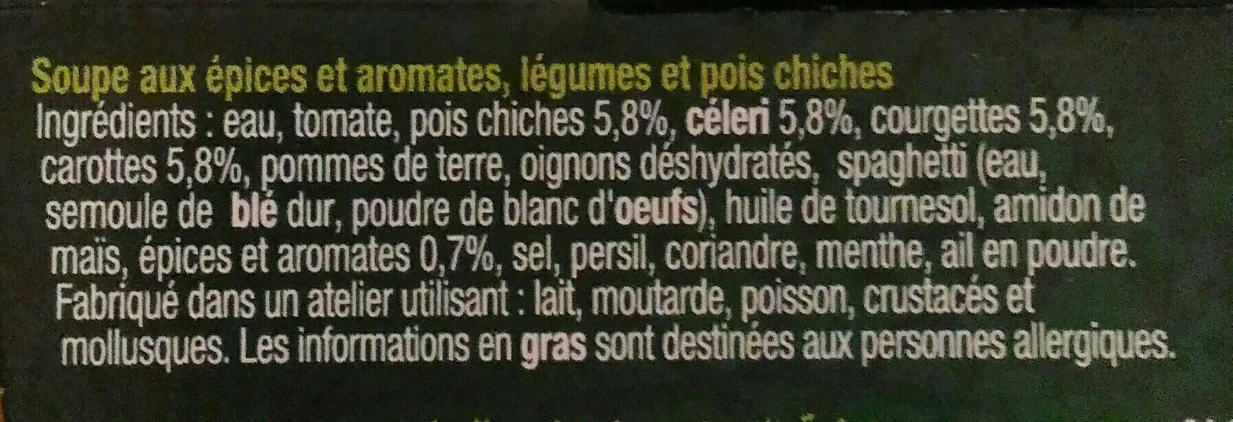 Chorba - Ingredients - fr