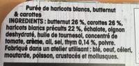 Purée de Haricots blancs, butternut & carottes - Ingredients - fr