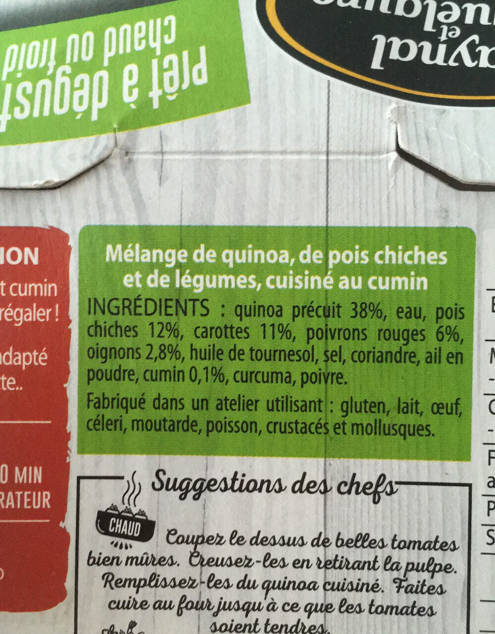 Quinoa cuisiné - Ingredients - fr