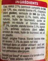 ravioli pur boeuf français - Ingrédients - fr