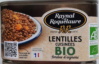 Lentilles cuisinées bio fondue d'oignons - Product - fr