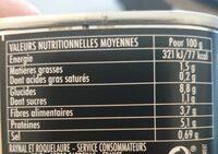 Lentilles cuisinées bio fondue d'oignons - Voedingswaarden - fr