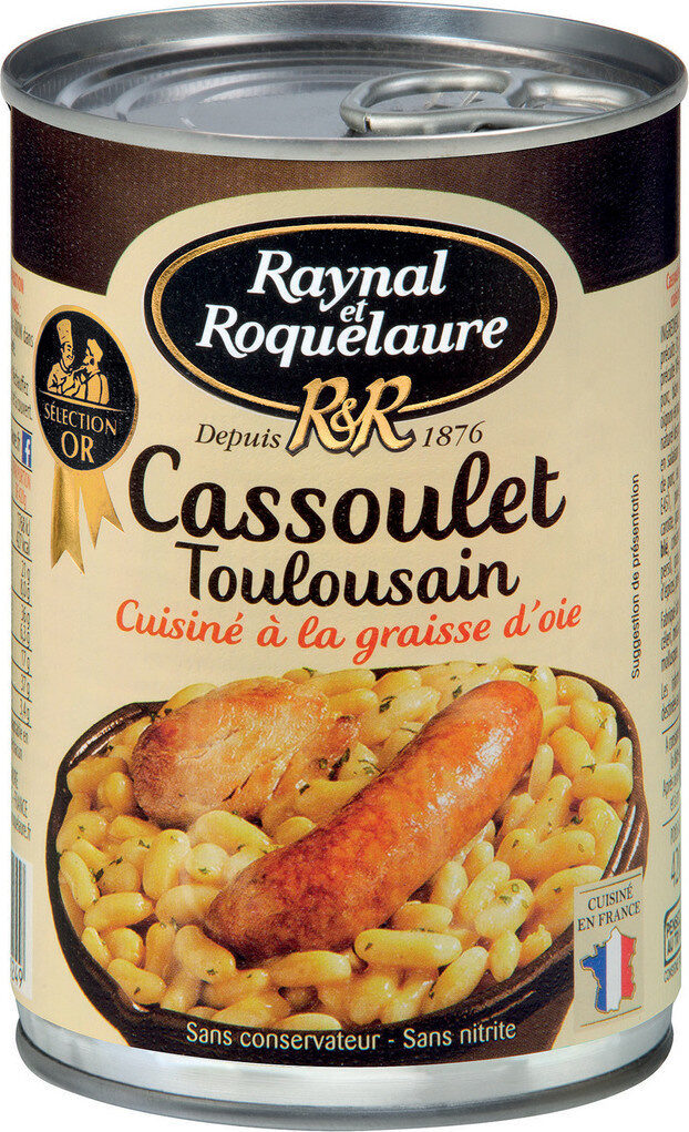 Cassoulet Toulousain, cuisiné à la graisse d'oie - Product - fr