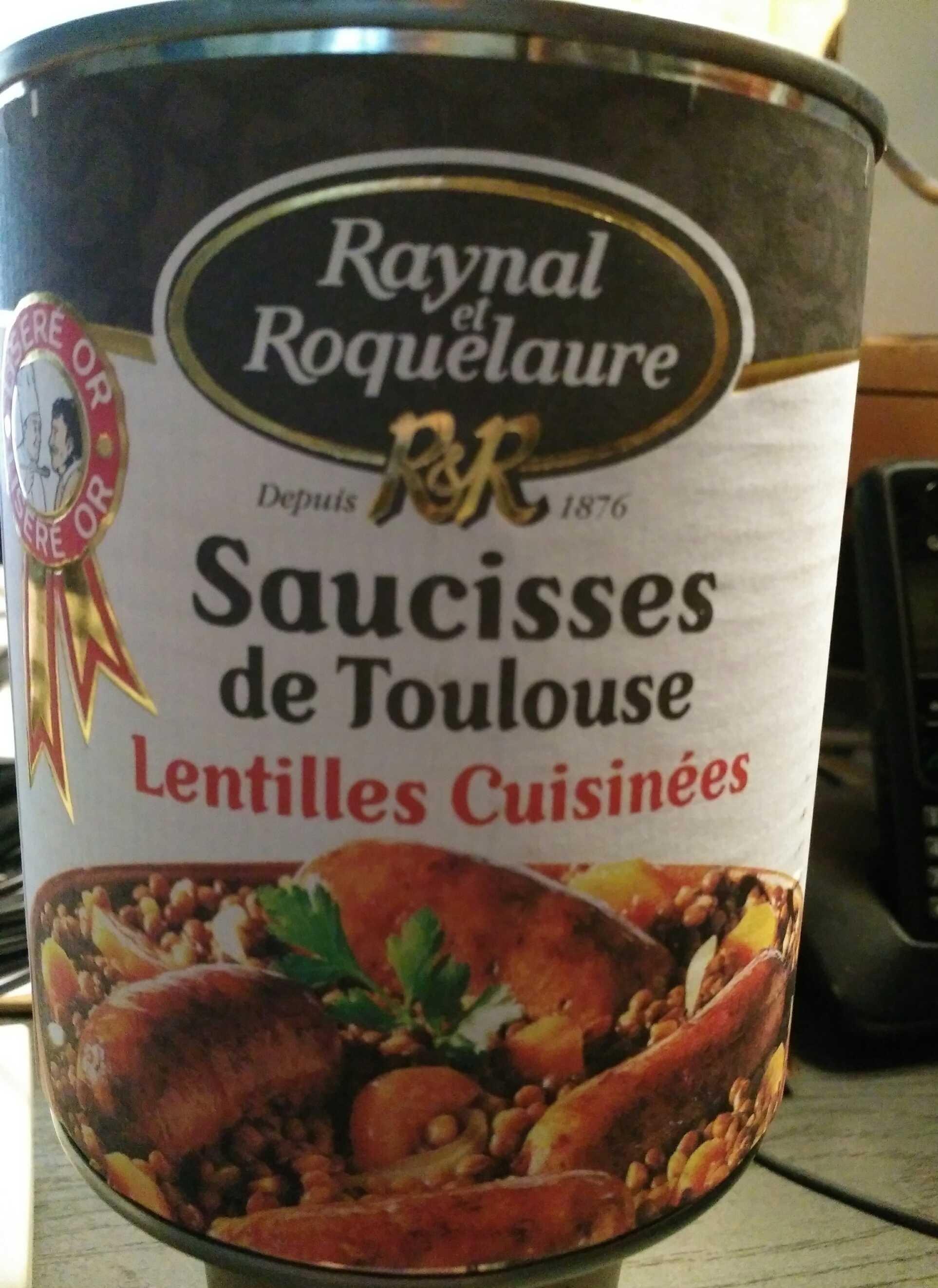 Saucisses de Toulouse - Lentilles cuisinées - Product - fr