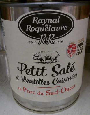 Petit Salé et Lentilles Cuisinées au Porc du Sud-Ouest - Product - fr
