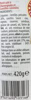 Petit salé à l'Auvergnate et lentilles cuisinées RAYNAL ET ROQUELAURE,420g - Ingredients - fr