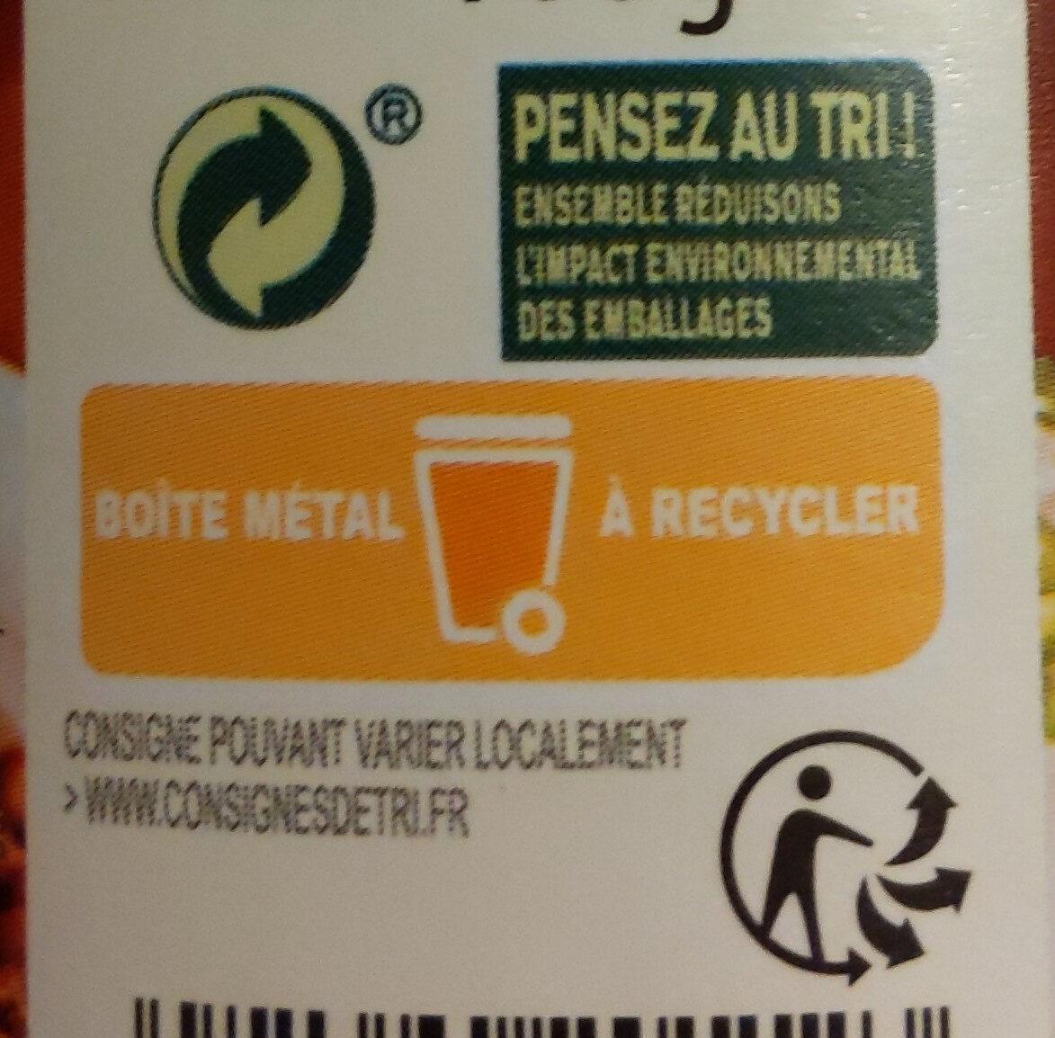 Lentilles cuisinées à l'Auvergnate - Instruction de recyclage et/ou informations d'emballage - fr