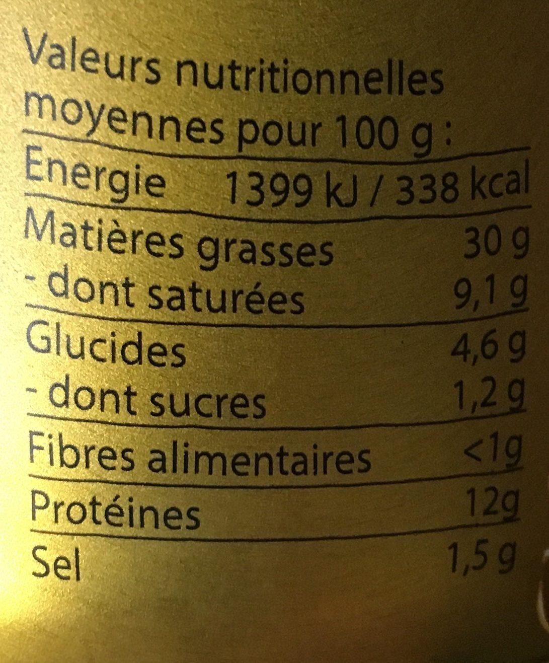 Pâté doré de campagne - Nutrition facts - fr
