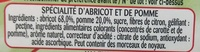 Abricot Intense - Ingredients