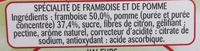 Framboise Intense - Ingredients