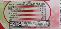 Framboise Intense - Nutrition facts