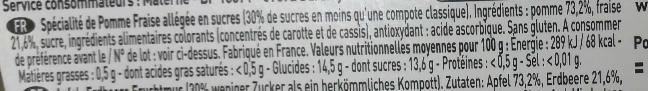 Pomme Fraise - Ingrediënten