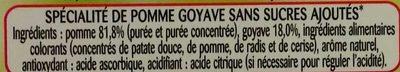 Pomme goyave - Ingredients