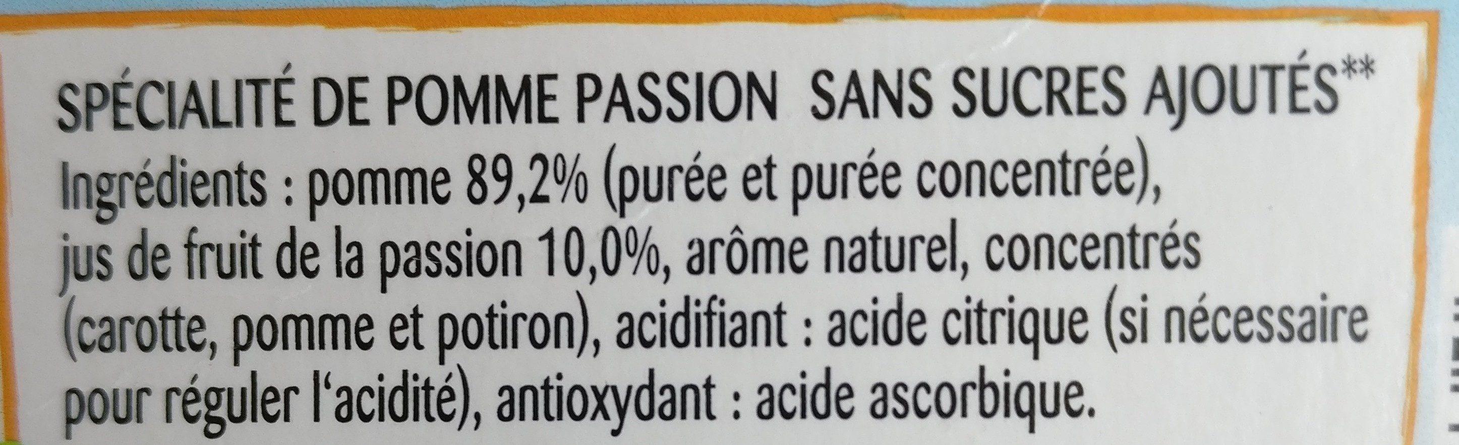 Pomme Passion - Ingrediënten - fr