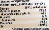 Compotes 4 Fruits Jaunes & Thé Vert - Nutrition facts