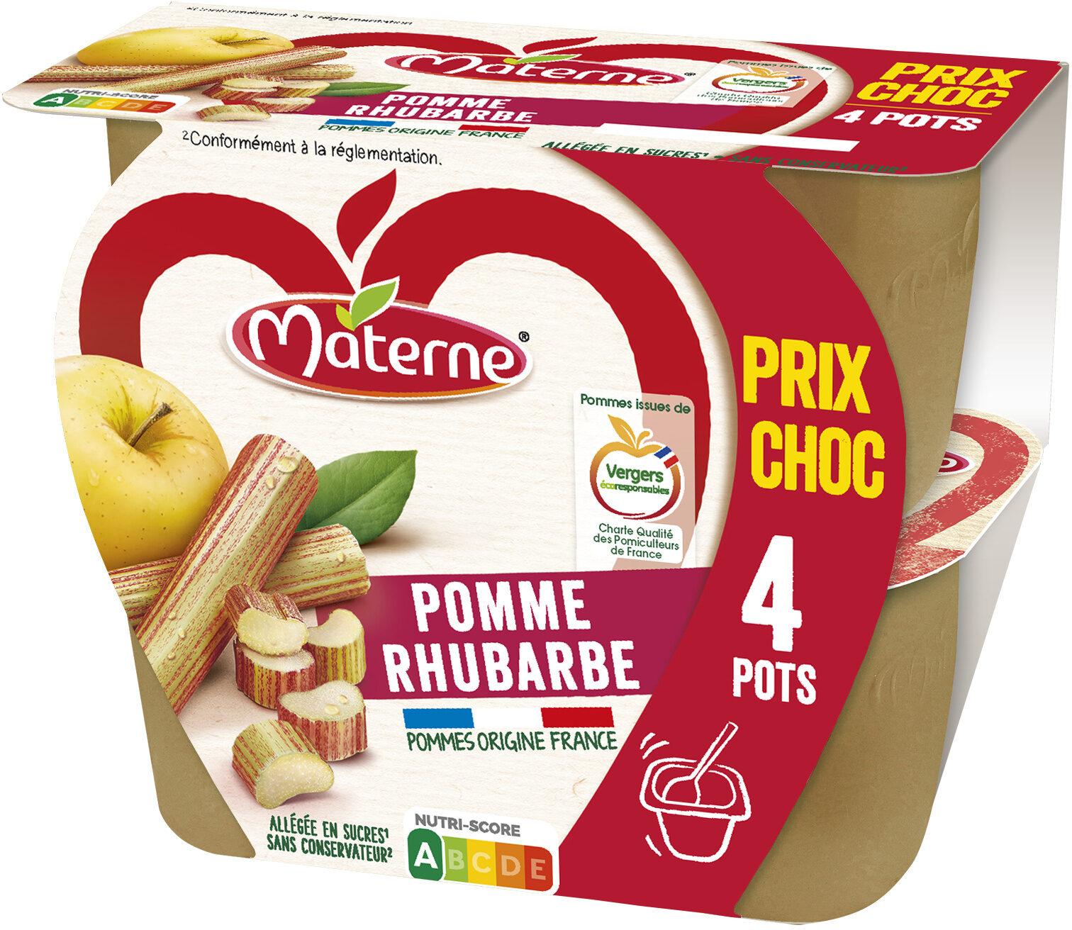MATERNE Pomme Rhubarbe 4x100g Prix Choc - Produit - fr