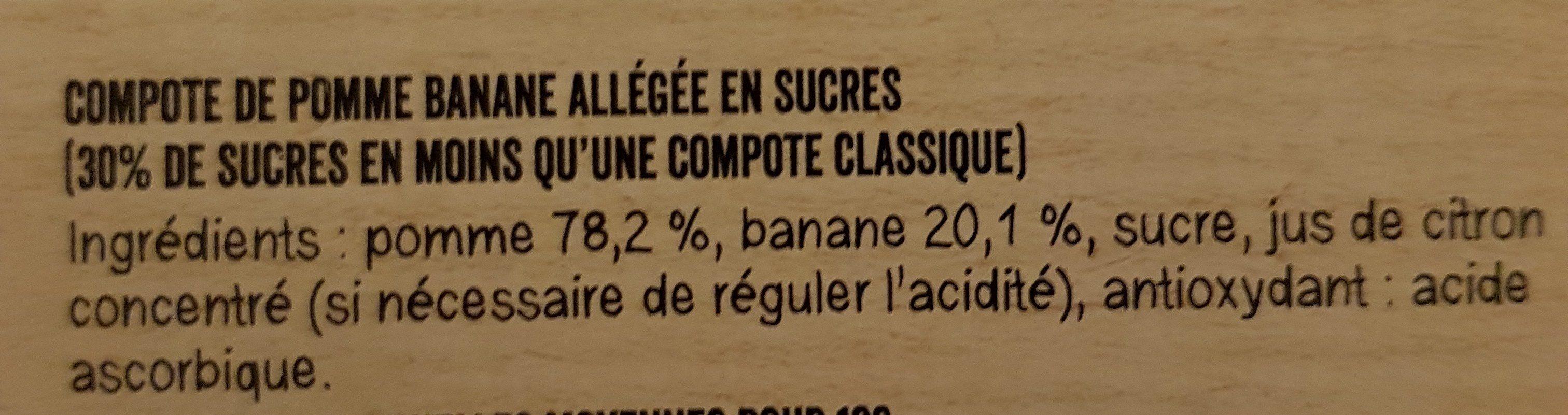 MATERNE Pomme/Pomme Abricot/Pomme Banane/Pomme Pêche 16x100g - Ingrédients - fr