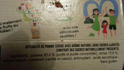 Compote pomme cerises sans sucres  ajouté - Ingredients