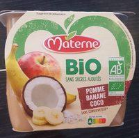 Compote Pomme Banane coco Bio - Produit - fr