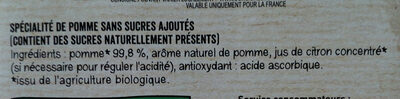 MATERNE BIO SSA Pomme 8x100g - Ingrédients - fr