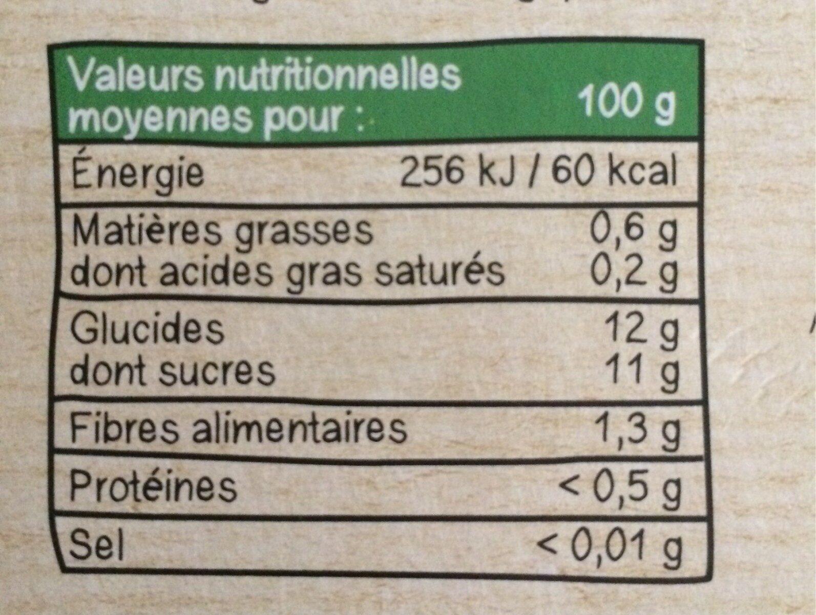 MATERNE BIO SSA Pomme 8x100g - Informations nutritionnelles - fr