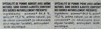 MATERNE BIO SSA Pomme Abricot/Pomme Poire 8x100g - Ingrédients - fr