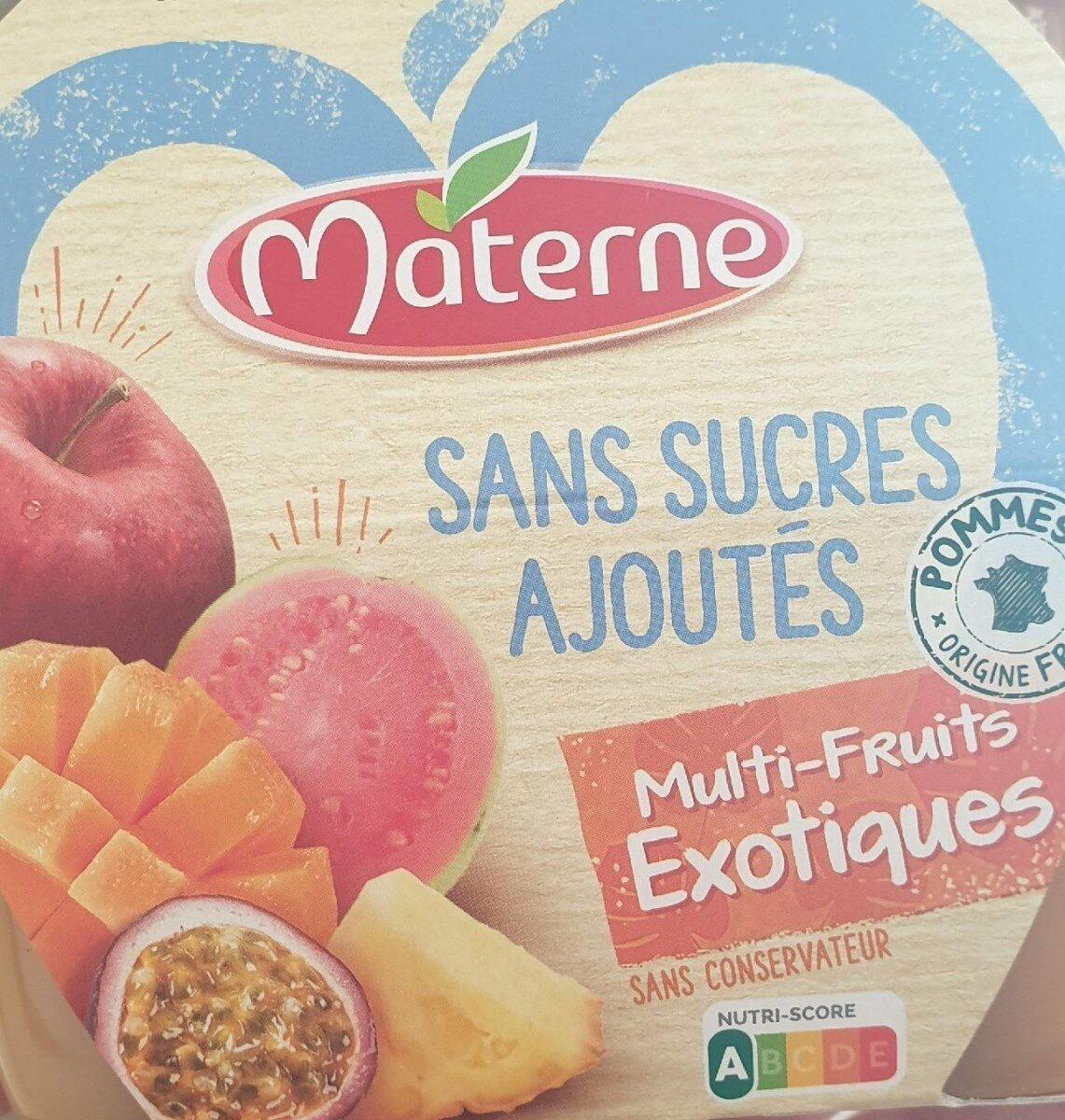 Compote materne sans sucres ajoutés multi-fruits exotiques - Product
