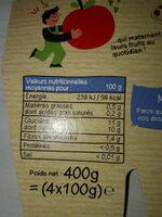 Compote materne sans sucres ajoutés multi-fruits exotiques - Voedigswaarden