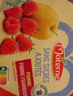 Pomme framboise sans sucres ajoutés - Produit
