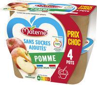 MATERNE SSA Pomme 4x100g Prix choc - Produit - fr