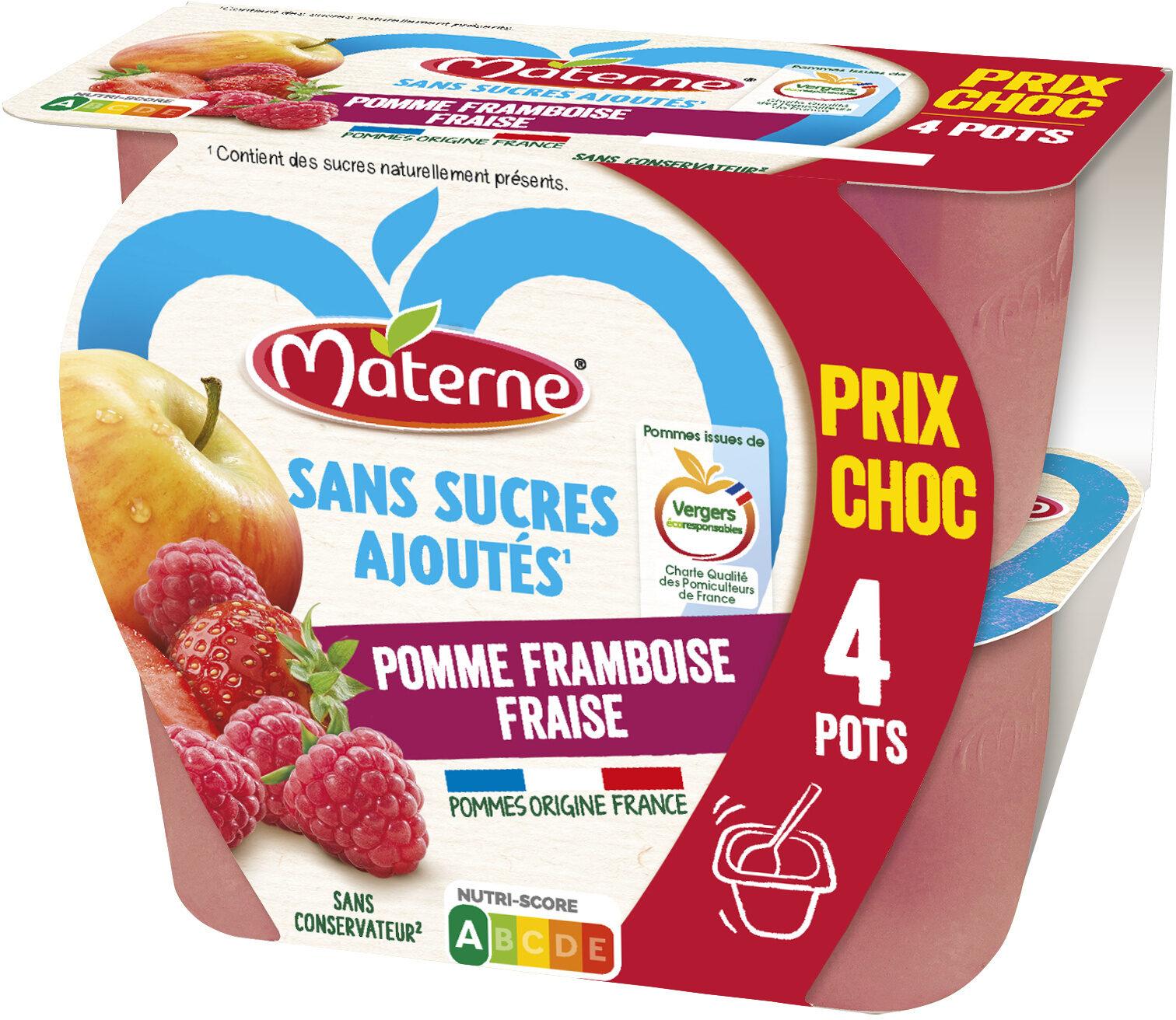 MATERNE SSA Pomme Framboise Fraise 4x100g Prix Choc - Produit - fr