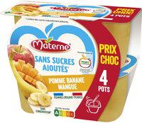 MATERNE SSA Pomme Banane Mangue 4x100g Prix Choc - Produit - fr