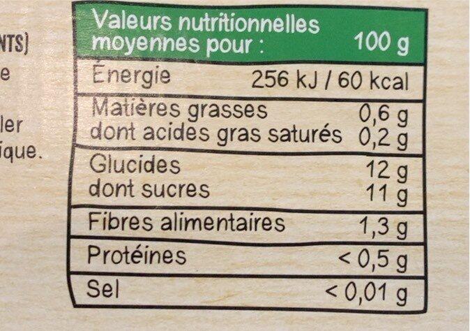 MATERNE BIO Pomme 32x100g - Informations nutritionnelles - fr