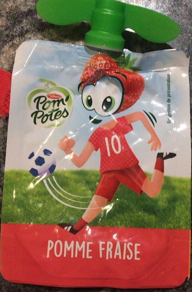 Pom' Potes Pommes Fraises - Produit - fr