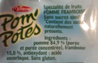 Pom'Potes (Pomme/Framboise) - Ingredients - fr