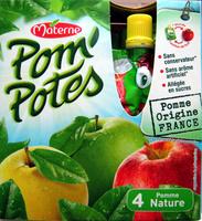 Pom'Potes pomme nature Materne - Product - fr