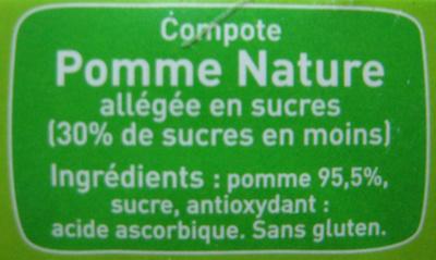 Pom'Potes pomme nature Materne - Ingrediënten - fr
