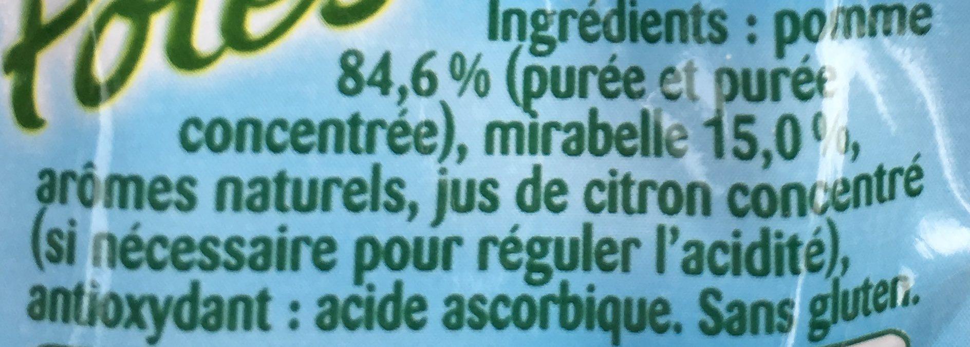 Pom'Potes Pomme Mirabelle - Ingredients