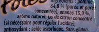 Pom'Potes Pomme Ananas - Ingrédients - fr