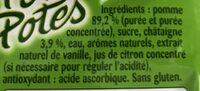 Pom'potes pomme châtaigne - Ingrédients - fr