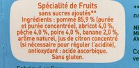 Pom potes 5 fruits (pomme, abricot, pêche, poire, banane) - Ingredienti - fr