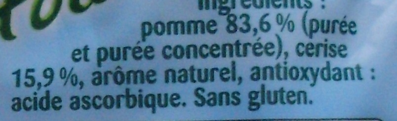 Pom' Potes, Pomme Cerise - Ingrédients