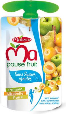 Sans Sucres Ajoutés Pomme Mirabelle Poire - Produit - fr