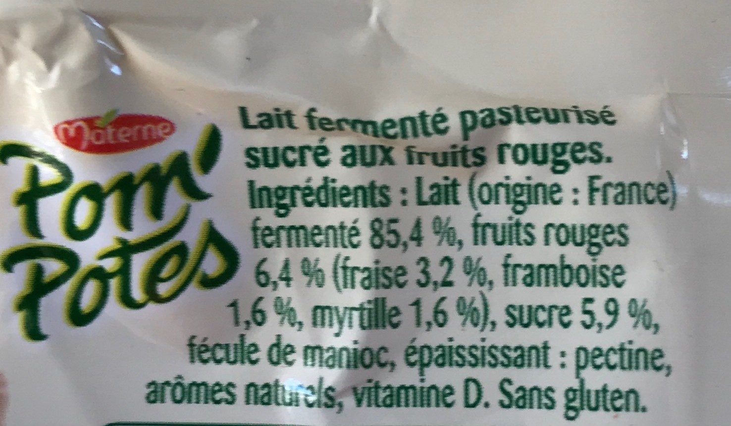 Brassés fruits rouges - Ingredients