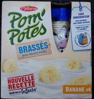 Pom' Potes brassés aux fruits mixés banane - Produit