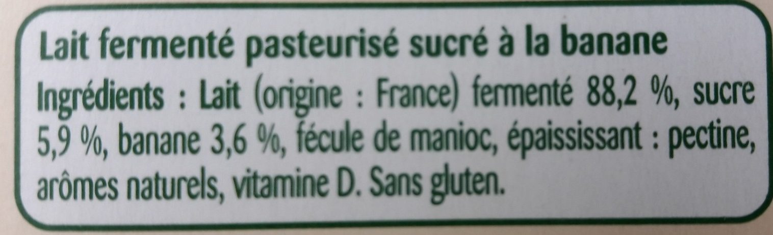 Pom' Potes brassés aux fruits mixés banane - Ingredients - fr