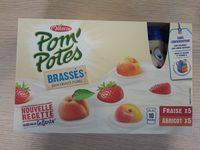 Pom'Potes Brassés Fraise Abricot - Produit - fr